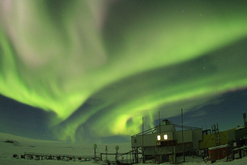 南極オーロラ